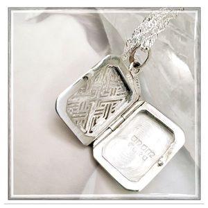 Sterling Silver Celtic 'Anam Cara' Etched Locket